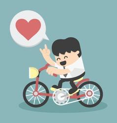 Business happy show love vector