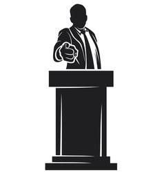 Man giving speech vector