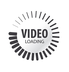 Abstract logo video loading vector