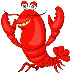 Cute lobster cartoon vector