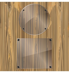 Glass on a wood vector