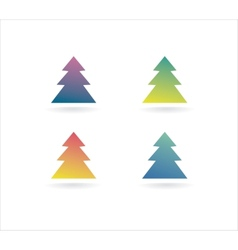 Abstract xmas tree icon set concept logotype vector