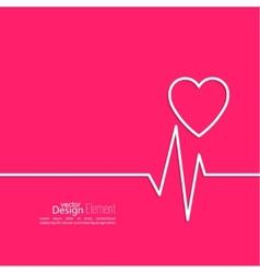 Cardiogram with heart vector
