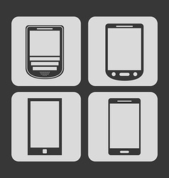 Cellphone icons vector