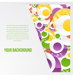 Abstract circles template object web vector
