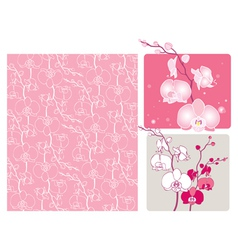 Orchids vector