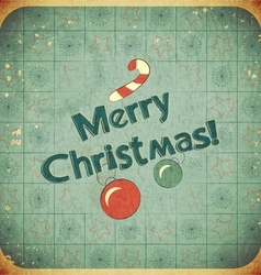 Christmas retro postcard vector
