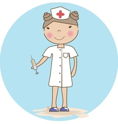 Young nurse vector
