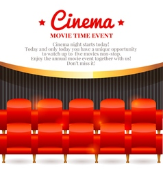 Elegant movie card vector