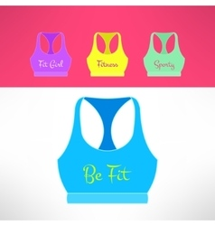 Tank top with printing in modern flat vector