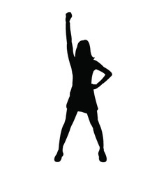 Cheerleader silhouette vector