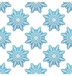 Snowflakes winter seamless pattern background vector