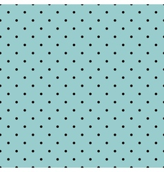 Tile black small polka dots on mint background vector