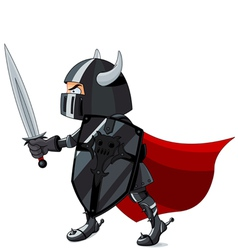 Fighting knight vector
