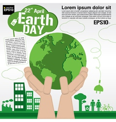 April 22nd earth day conceptual eps10 vector