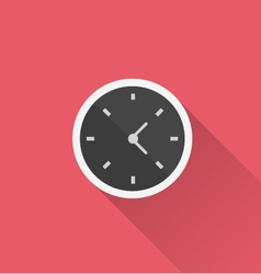 Clock icon in minimal style vector
