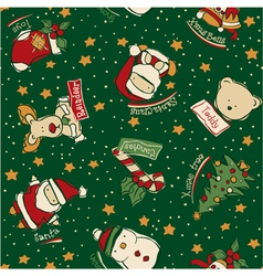Funny christmas elements vector