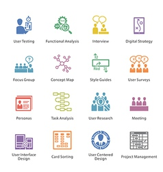 Web usability icons set 1 - colore vector