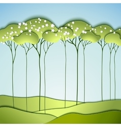 Abstract spring tree vector