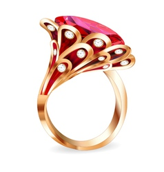 Piece of jewelry vector