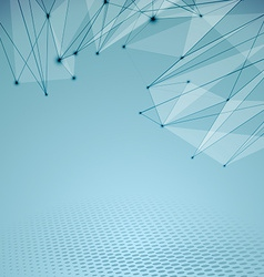 Connectivity abstract web hi-tech background vector