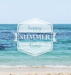 Happy summer time poster vector