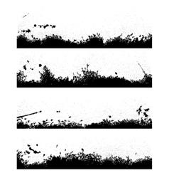 Four black frames blot vector