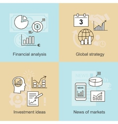 Business concepts news of markets investment vector