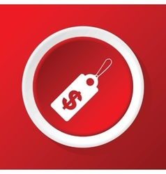 Dollar price icon on red vector