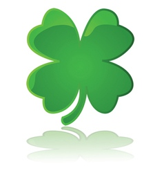 Glossy four leaf clover vector