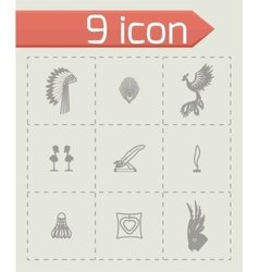 Feather icon set vector