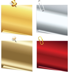 Metallic notes vector