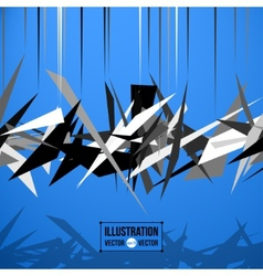Abstract background of black fragments vector