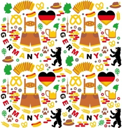 Pattern with germany icons vector