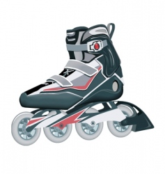Roller shoes vector