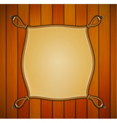 Rope frame with parchment banner vector