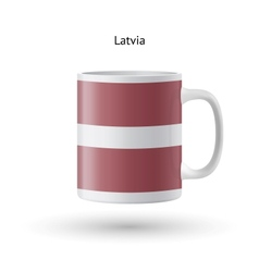 Latvia flag souvenir mug on white background vector