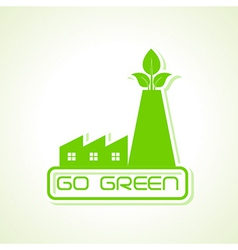 Green industry design icon design vector