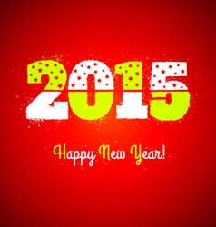 2015 on red background vector