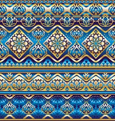 Silk blue ornament vector