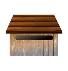 Wooden mailbox vector