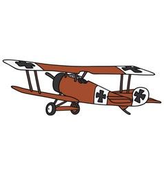 Vintage germany biplane vector