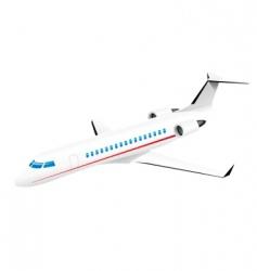 Passenger jetplane vector