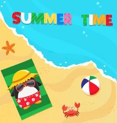 Summer penguin vector