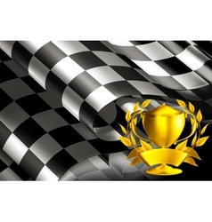 Checkered background horizontal with cup vector