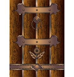 Antique door vector