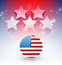 Stylish american flag design vector