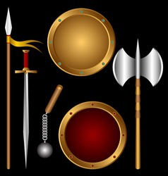Ancient weapons vector