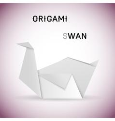 Swan origami vector