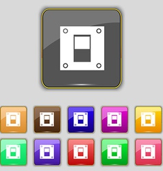 Power switch icon sign set with eleven colored vector